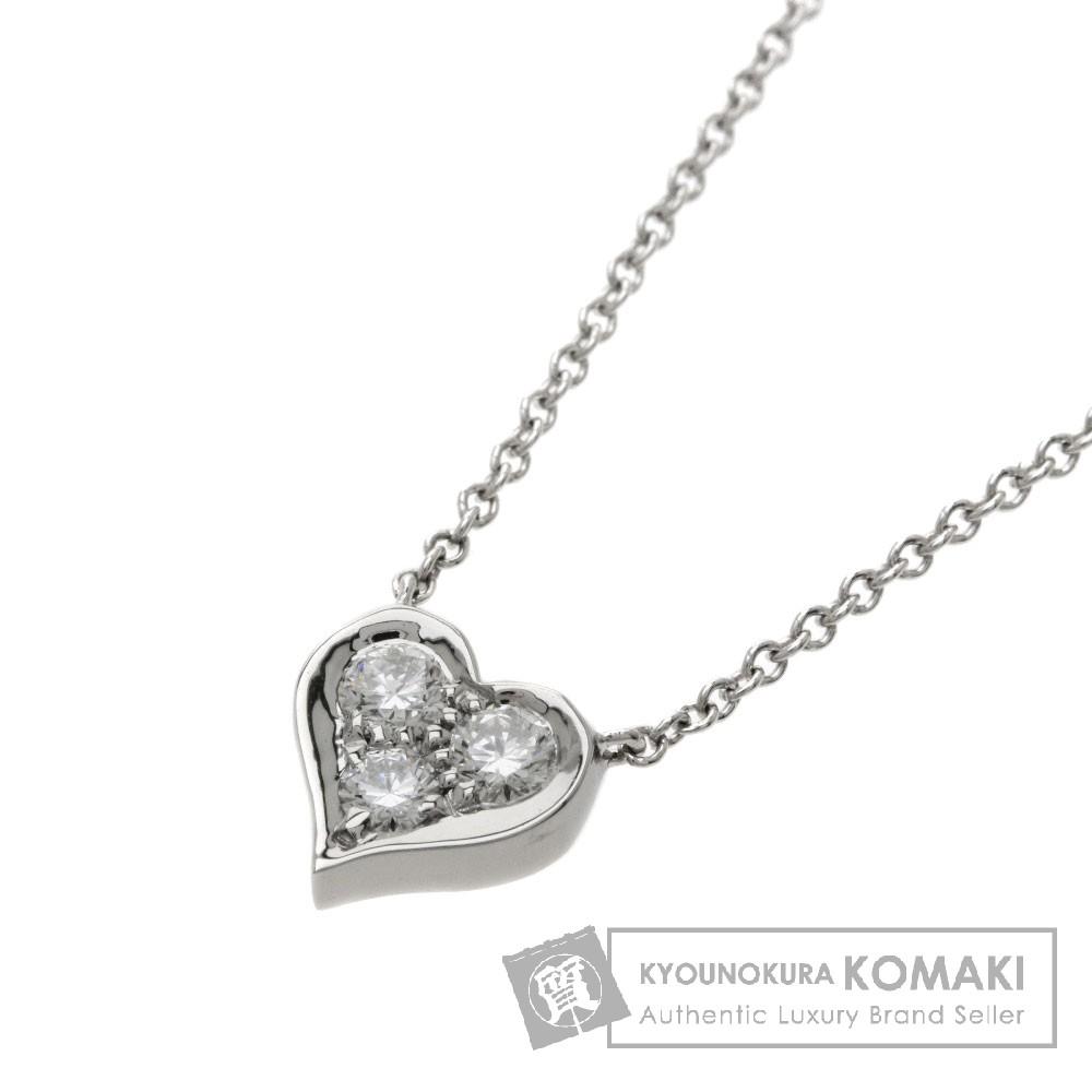 TIFFANY&Co. センチメンタルハート 3Pダイヤモンド ネックレス PT950 レディース 【中古】【ティファニー】