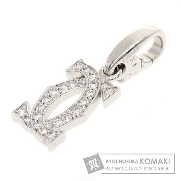 CARTIER チャーム 2C ダイヤモンド ペンダント K18ホワイトゴールド レディース 【中古】【カルティエ】