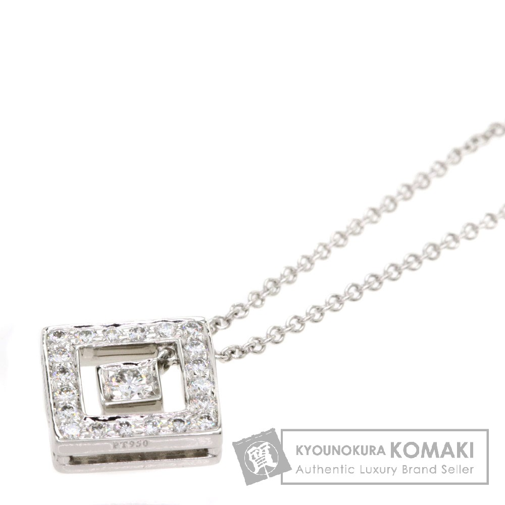TIFFANY&Co. オープンスクエア ダイヤモンド ネックレス PT950 レディース 【中古】【ティファニー】