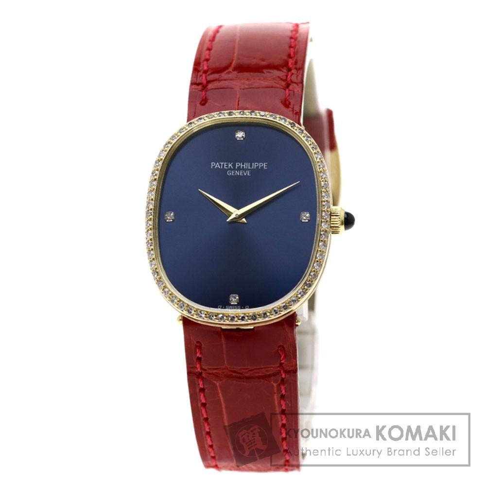 PATEK PHILIPPE 3849J ゴールデン エリプス 腕時計 OH済 K18イエローゴールド/ダイヤモンド メンズ 【中古】【パテックフィリップ】