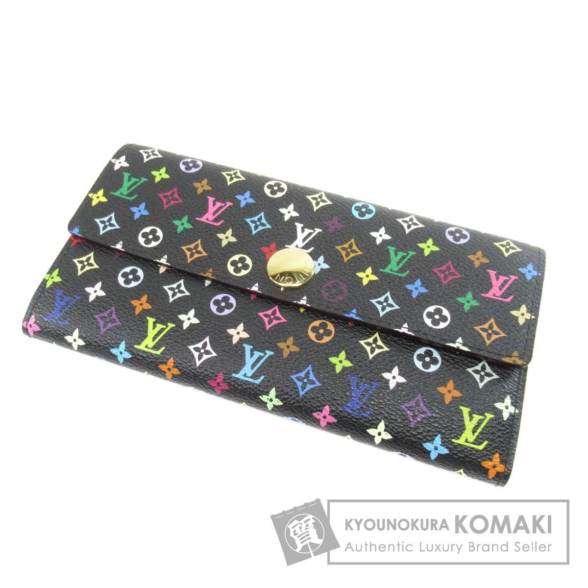 M93533 ポルトフォイユ サラ 長財布(小銭入れあり) モノグラムマルチカラーキャンバス レディース 【中古】【】