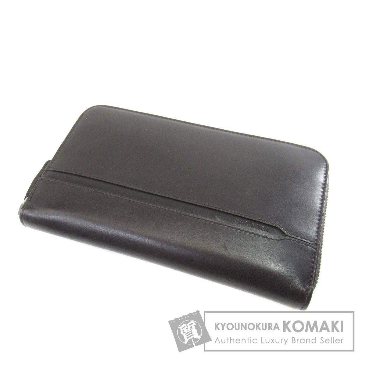 BVLGARI ロゴモチーフ 長財布(小銭入れあり) レザー レディース 【中古】【ブルガリ】