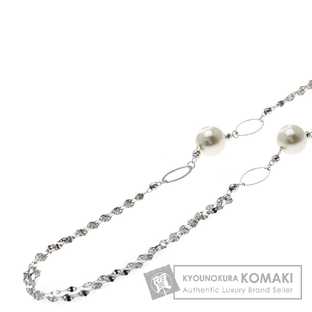 パール/真珠 ネックレス K18ホワイトゴールド 13.6g レディース 【中古】