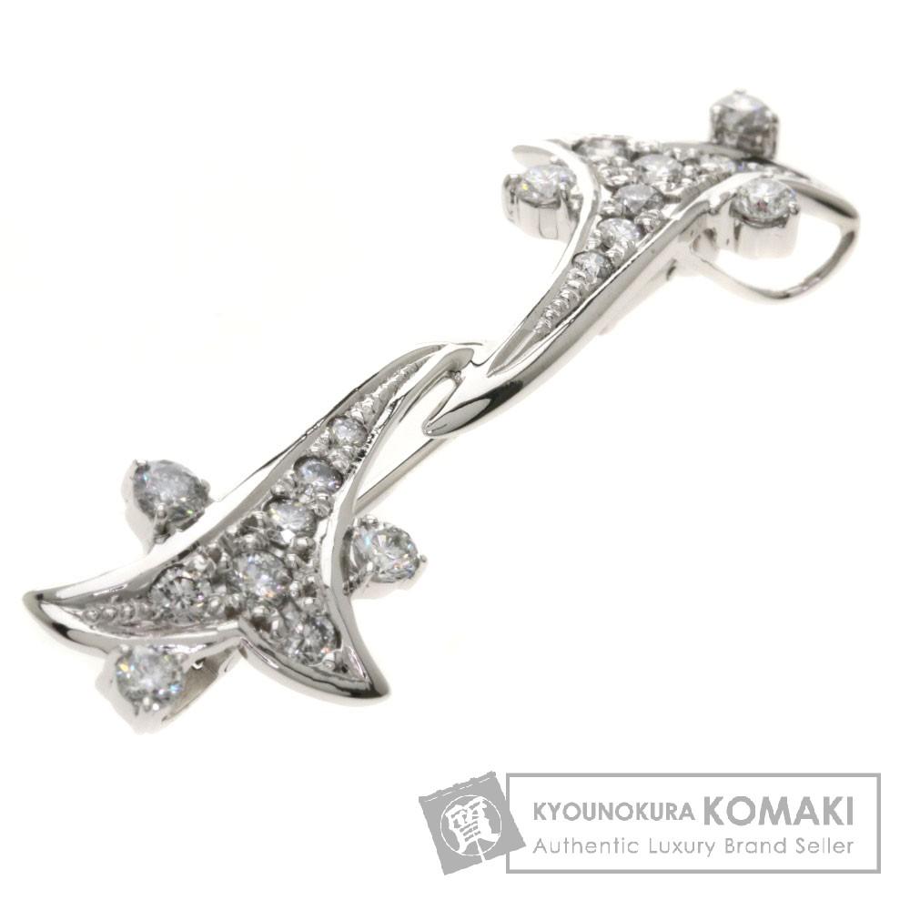 0.82ct ダイヤモンド ブローチ K18ホワイトゴールド/K14WG 4.1g レディース 【中古】