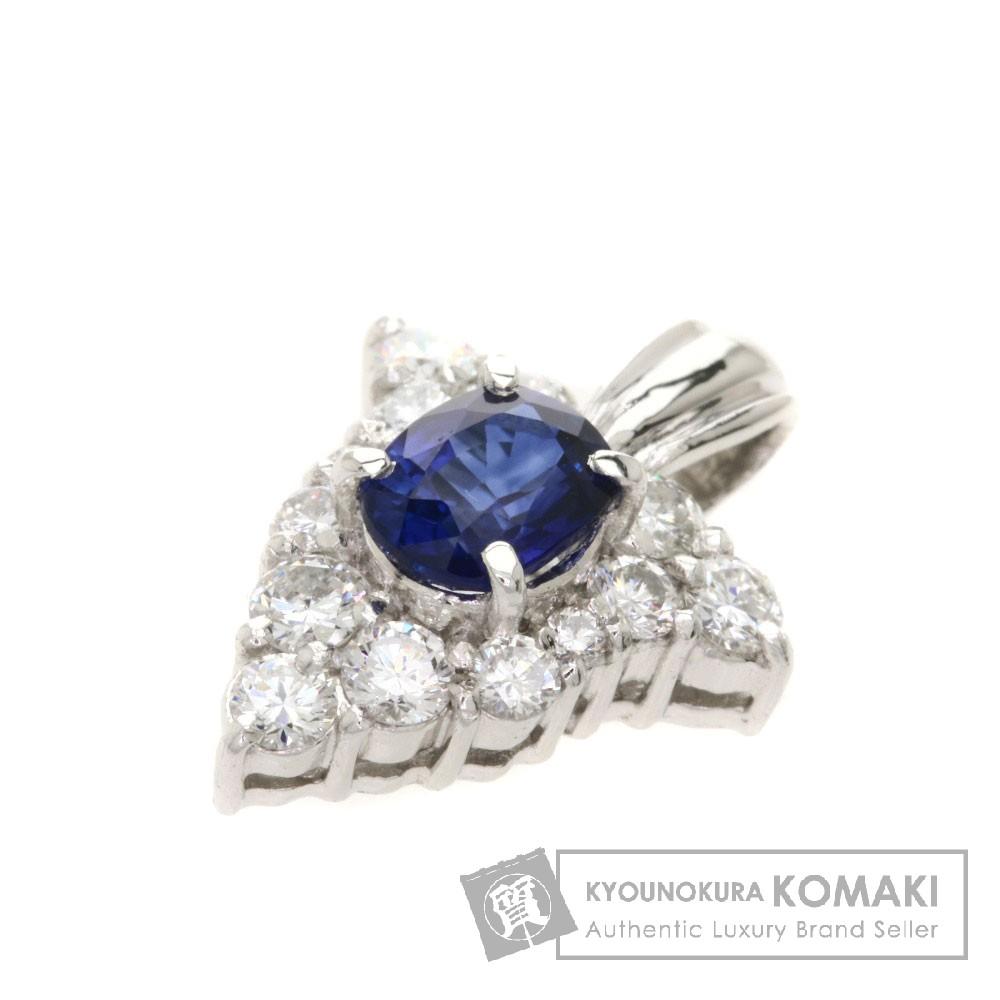 0.46ct サファイヤ/ダイヤモンド ペンダントトップ プラチナPT900 1.8g レディース 【中古】