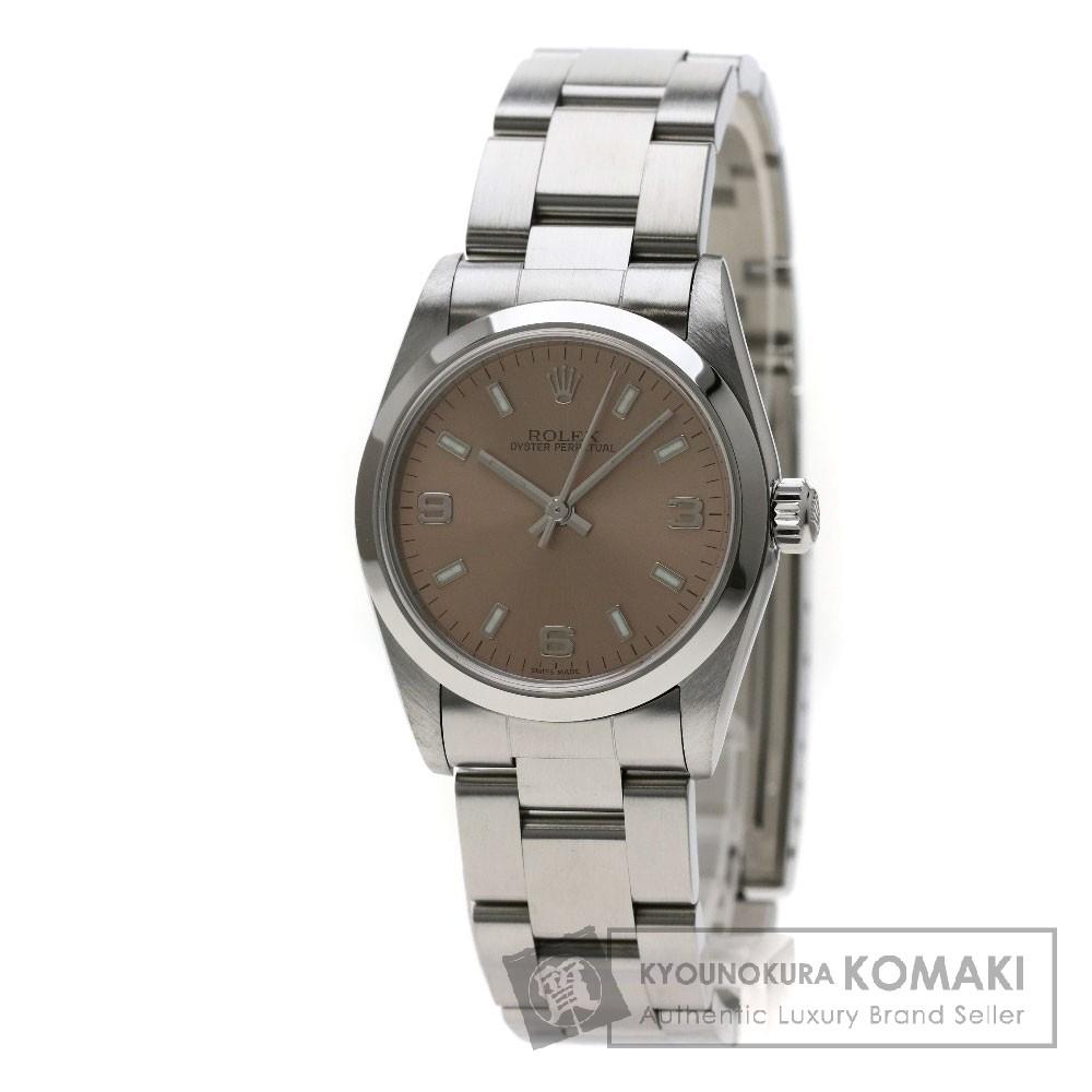 ROLEX 77080 オイスターパーペチュアル 腕時計 OH済 ステンレススチール/SS ボーイズ 【中古】【ロレックス】