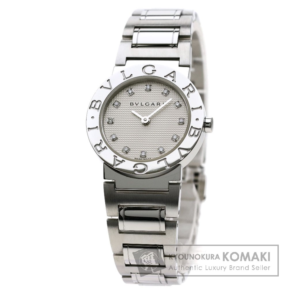BVLGARI BB26WSS/12 ブルガリブルガリ 12Pダイヤモンド 腕時計 ステンレススチール レディース 【中古】【ブルガリ】