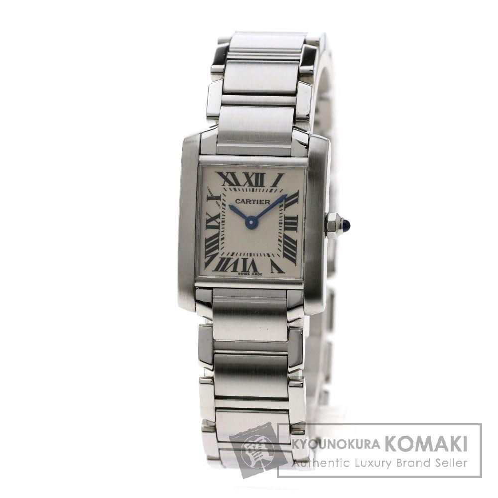 CARTIER タンクフランセーズSM 腕時計 ステンレススチール レディース 【中古】【カルティエ】