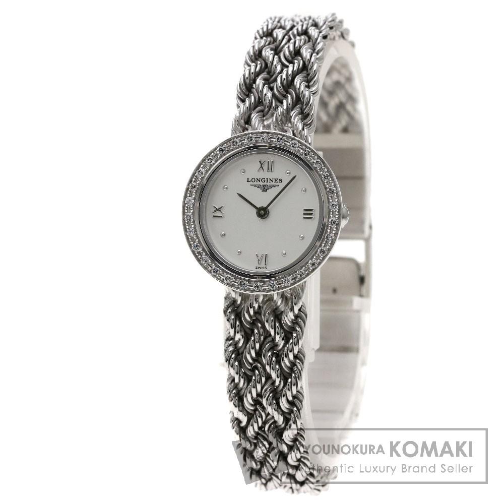 LONGINES L6.108.7 プレステージ 腕時計 K18ホワイトゴールド/ダイヤモンド レディース 【中古】【ロンジン】