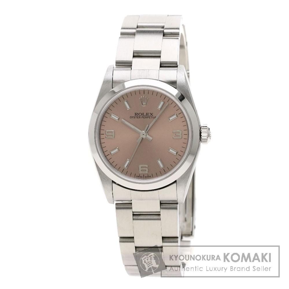 ロレックス 77080 オイスターパーペチュアル 腕時計 OH済 ステンレススチール ボーイズ 【中古】 【ROLEX】