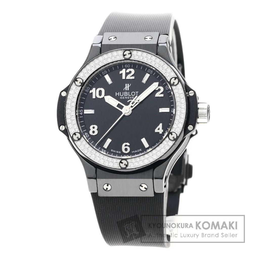 HUBLOT 361-CV-1270-RX-1104 ビッグバン ブラックマジック 38mm 腕時計 セラミック/ラバー/ダイヤモンド ボーイズ 【中古】【ウブロ】