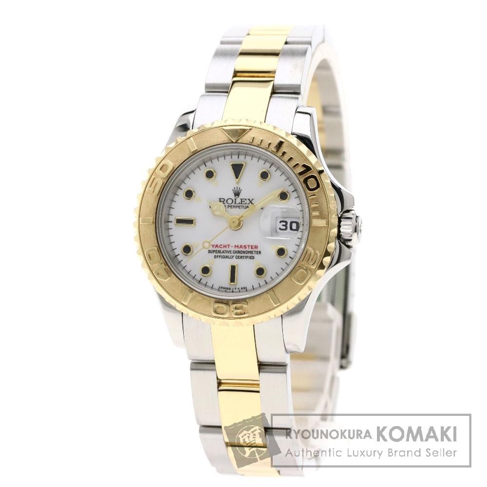 ROLEX 69623 ヨットマスター コンビ 腕時計 OH済 ステンレススチール/SSxK18YG レディース 【中古】【ロレックス】