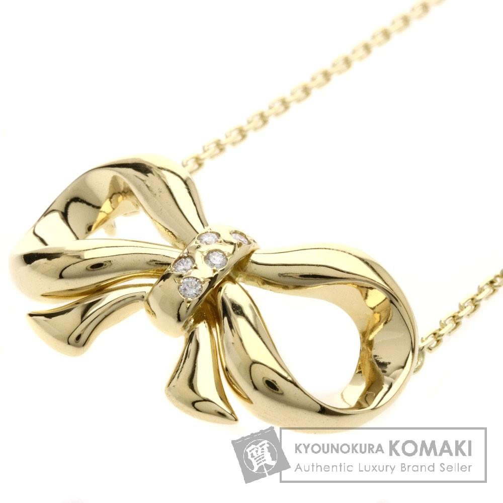 Chaumet ダイヤモンド/リボンモチーフ ネックレス K18イエローゴールド レディース 【中古】【ショーメ】