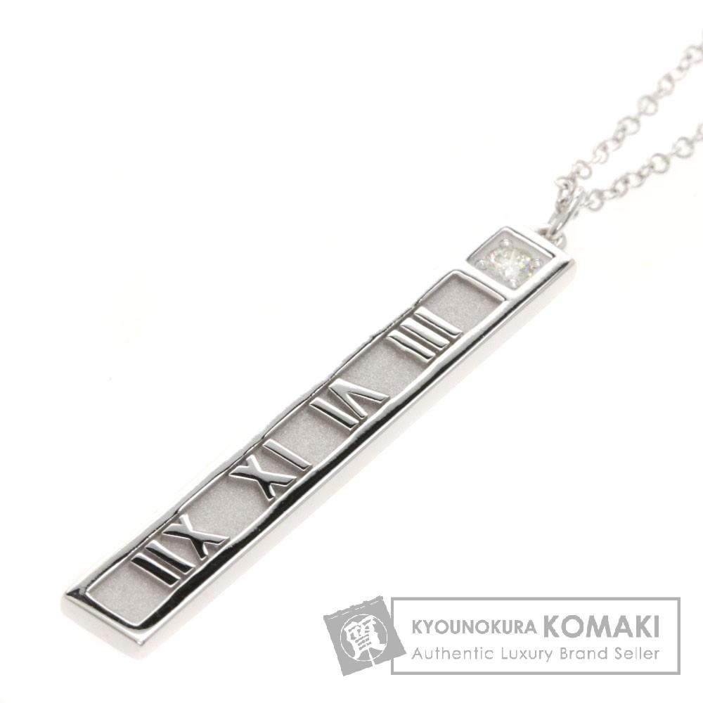 TIFFANY&Co. アトラス 1Pダイヤモンド ネックレス K18ホワイトゴールド レディース 【中古】【ティファニー】