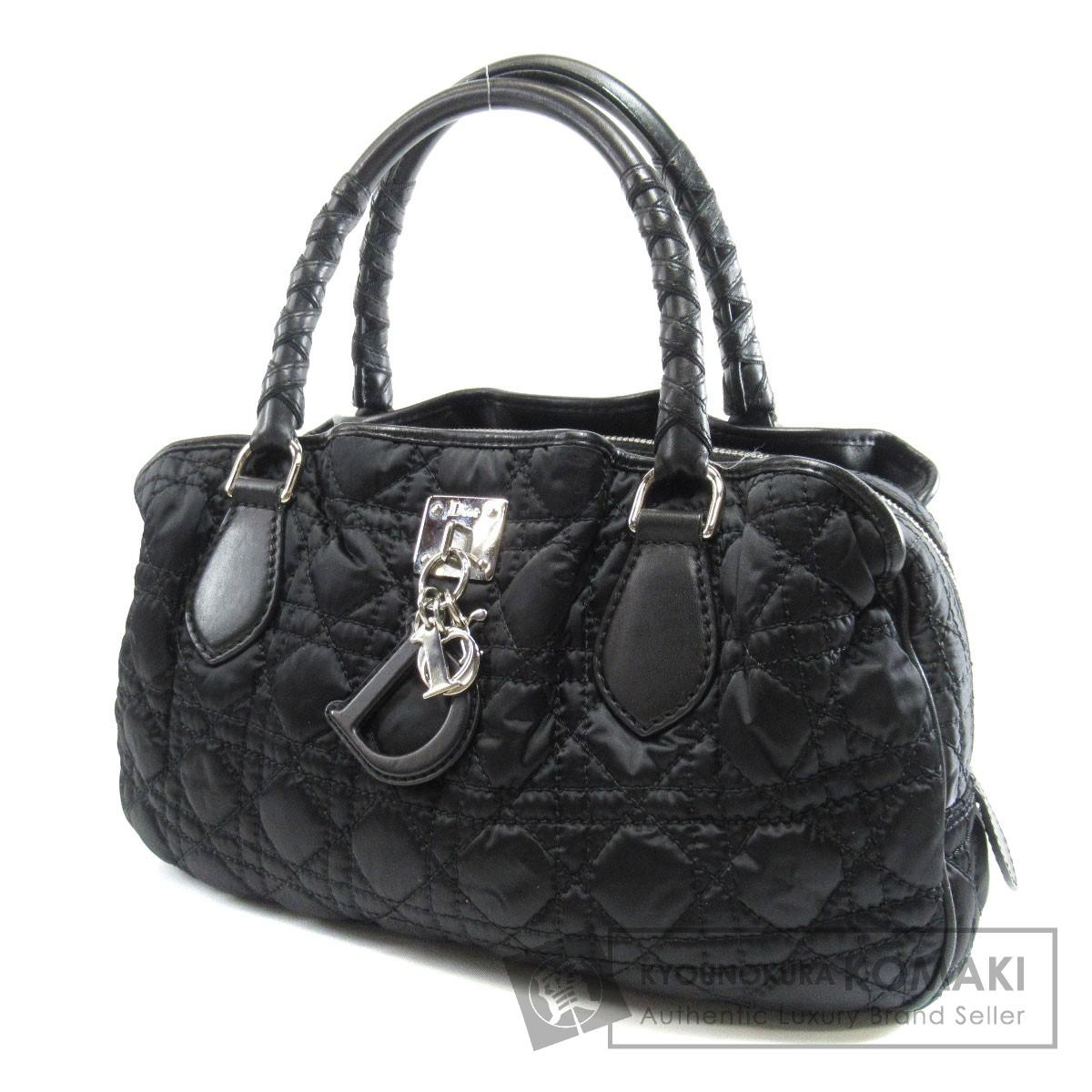 Dior キルティング ロゴプレート ハンドバッグ ナイロン素材/レザー レディース 【中古】【ディオール】
