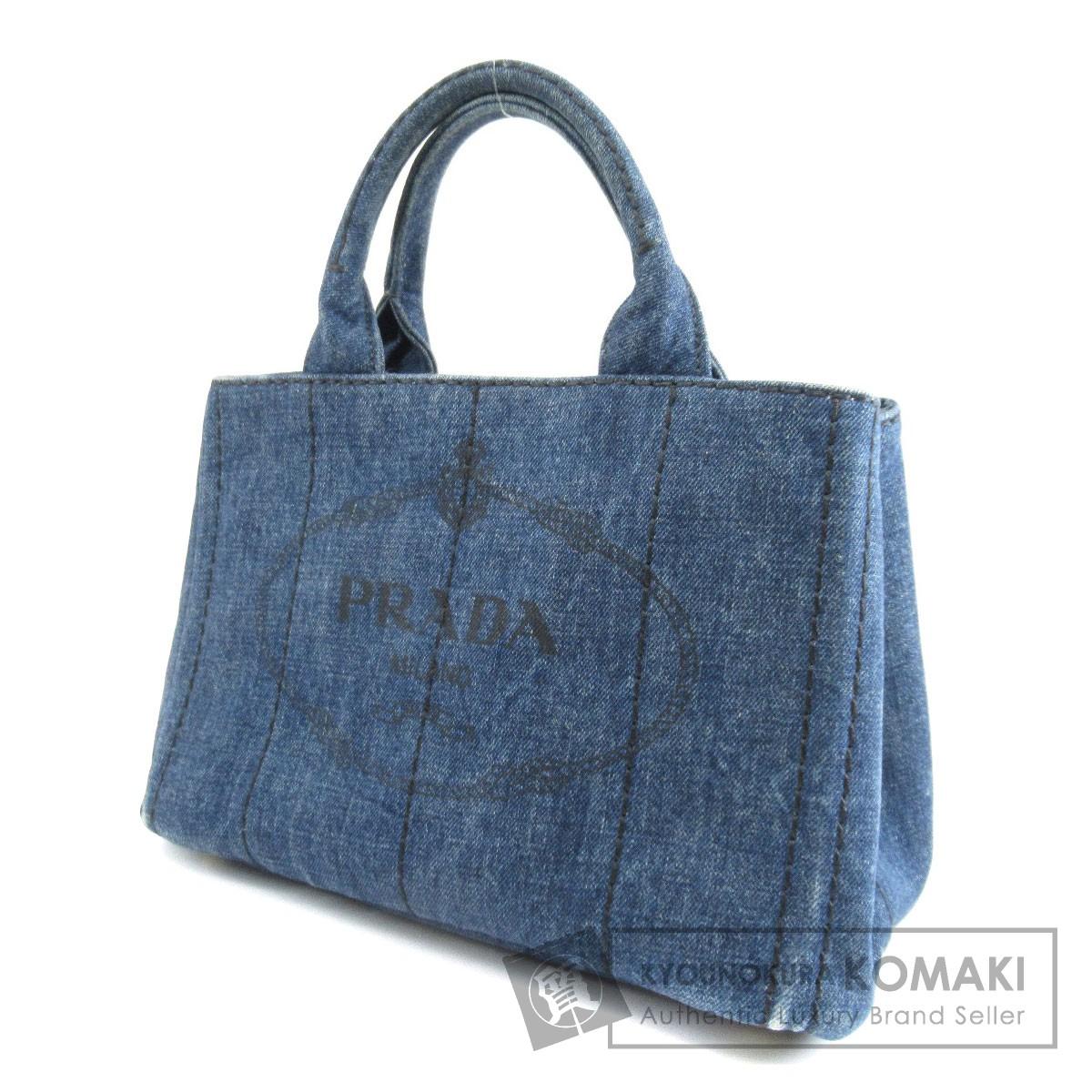 PRADA BN2439 カナパミニ ハンドバッグ キャンバス レディース 【中古】【プラダ】