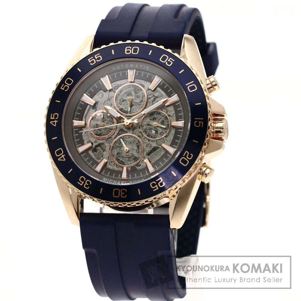 Michael Kors MK-9025 ジェットマスター 腕時計 GP/ラバー メンズ 【中古】【マイケルコース】