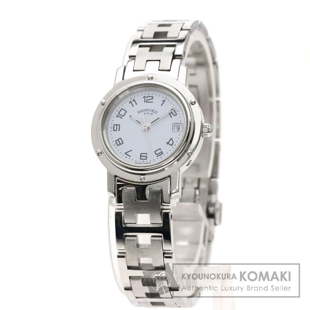 HERMES CL4.210 クリッパー 腕時計 ステンレススチール レディース 【中古】【エルメス】