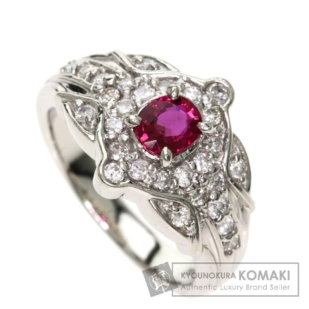 0.55ct ルビー/ダイヤモンド リング・指輪 プラチナPT900 10.1g レディース 【中古】