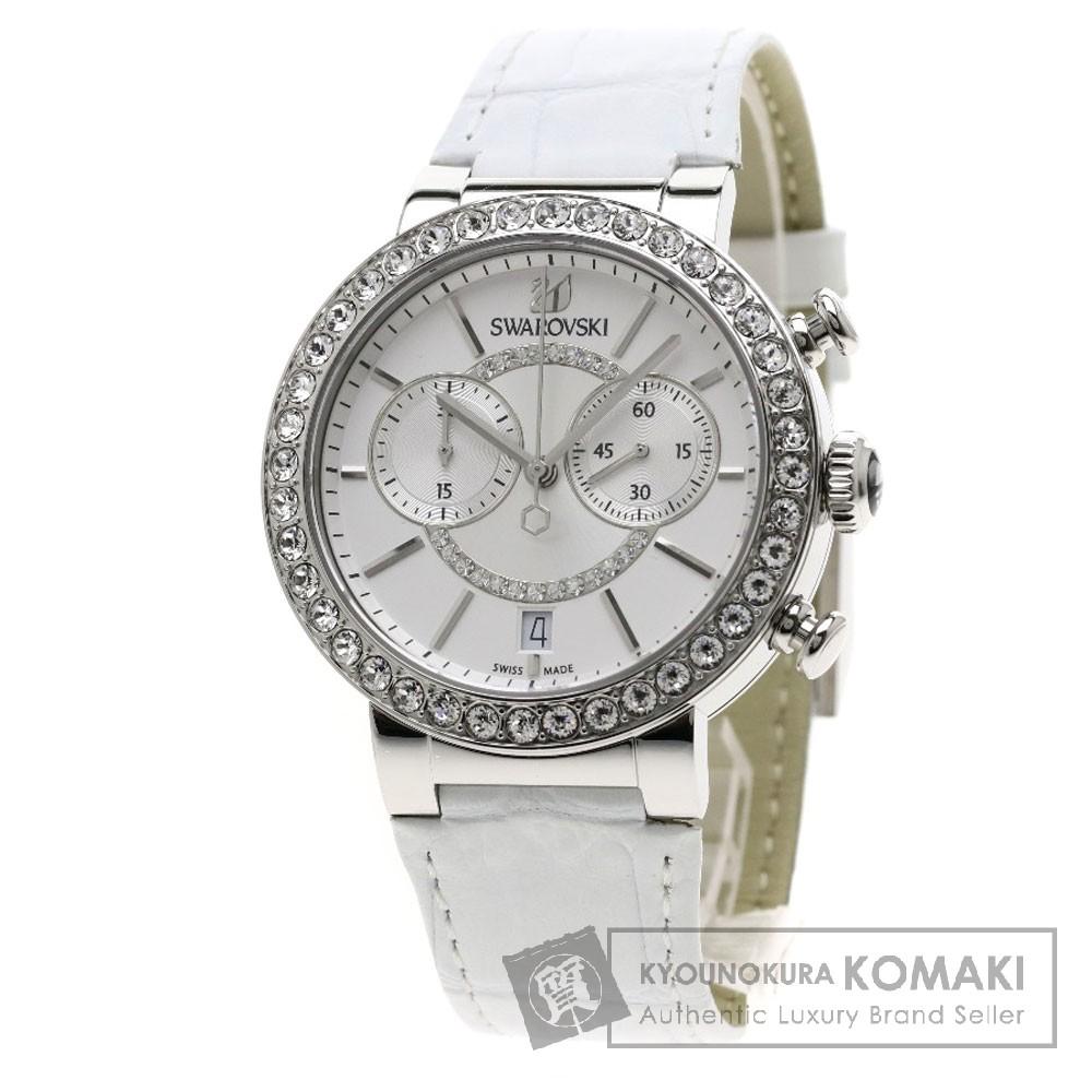SWAROVSKI シトラスフィア 腕時計 ステンレススチール/革 レディース 【中古】【スワロフスキー】