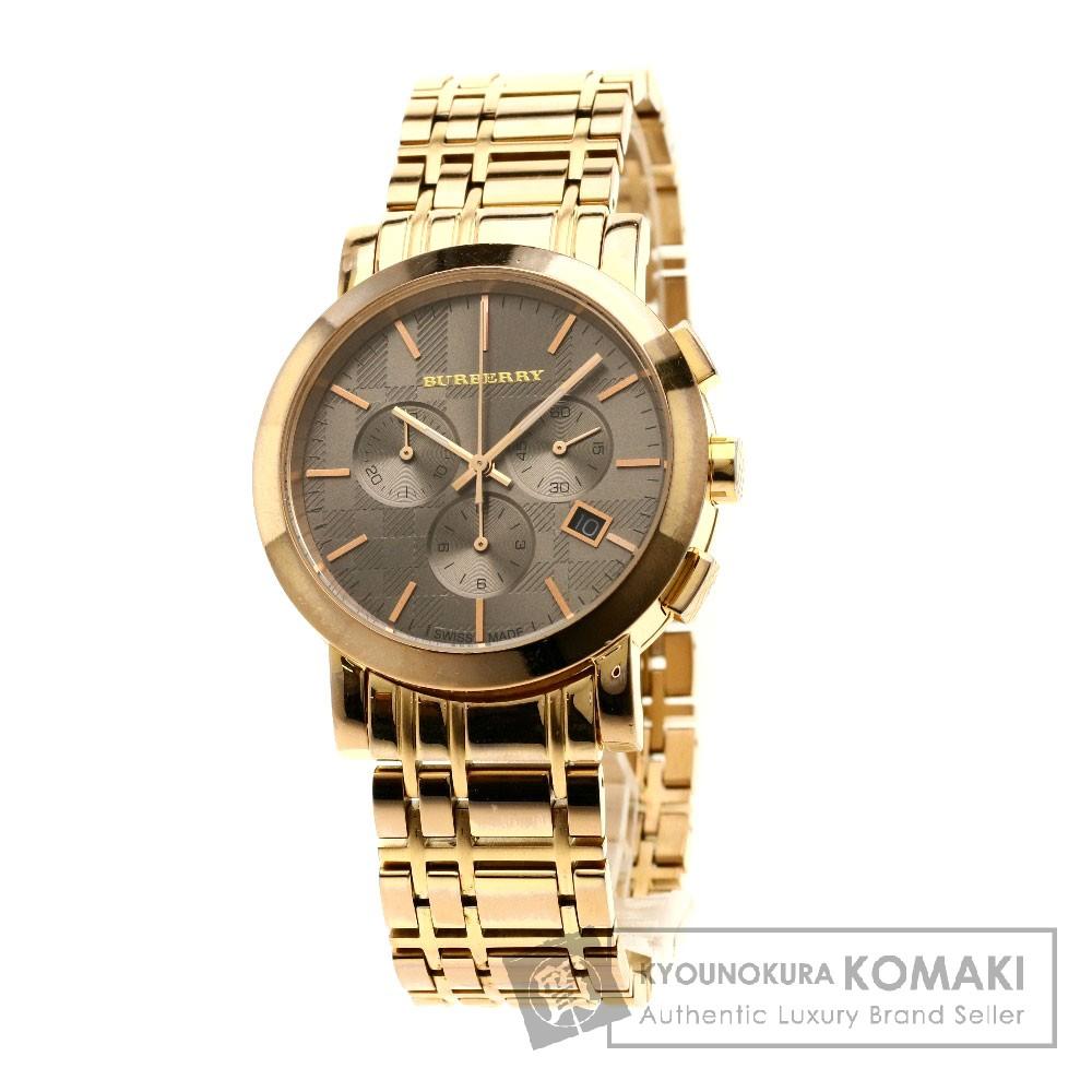 BURBERRY BU1862 ノバチェック 腕時計 GP メンズ 【中古】【バーバリー】