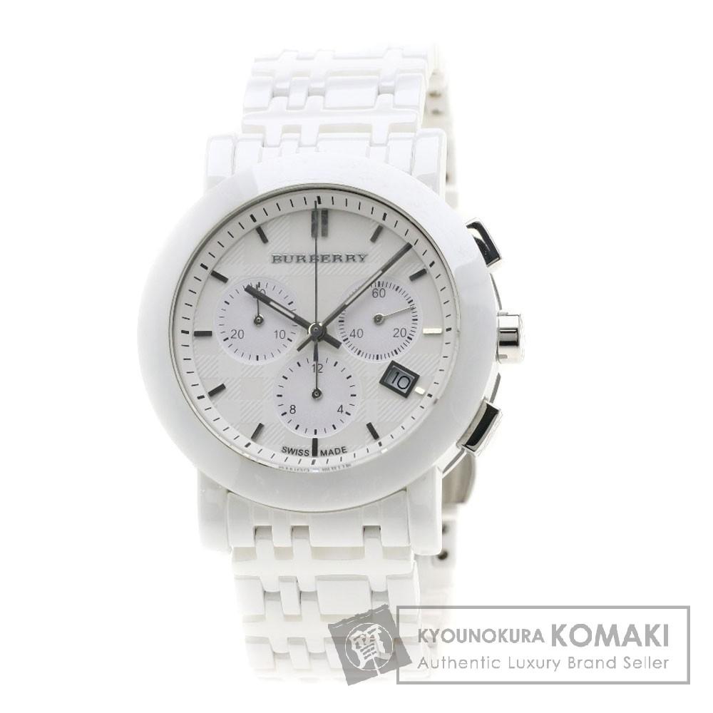 BURBERRY BU1770 ノバチェック 腕時計 セラミック/SS メンズ 【中古】【バーバリー】