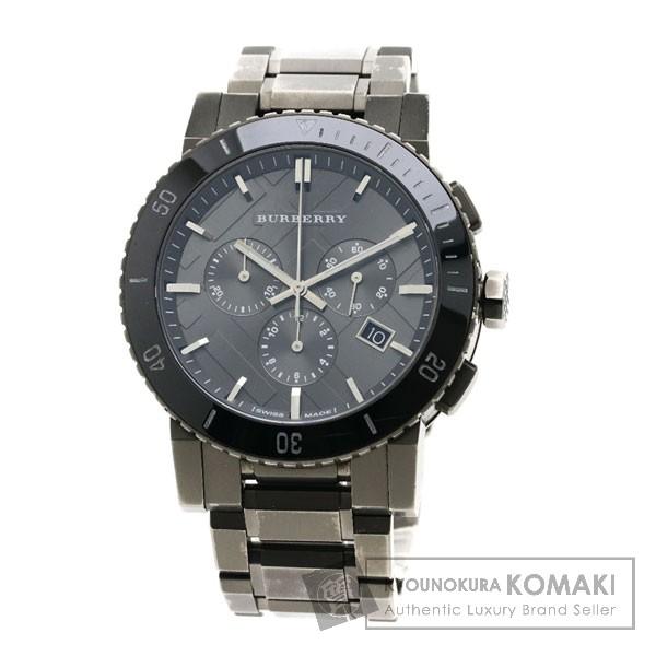 BURBERRY BU9381 チェック 腕時計 ステンレススチール メンズ 【中古】【バーバリー】