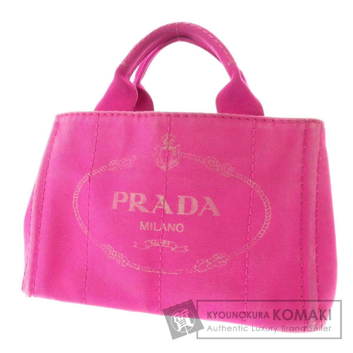 PRADA カナパ ミニ 2WAY/ショルダーバッグ トートバッグ キャンバス レディース 【中古】【プラダ】