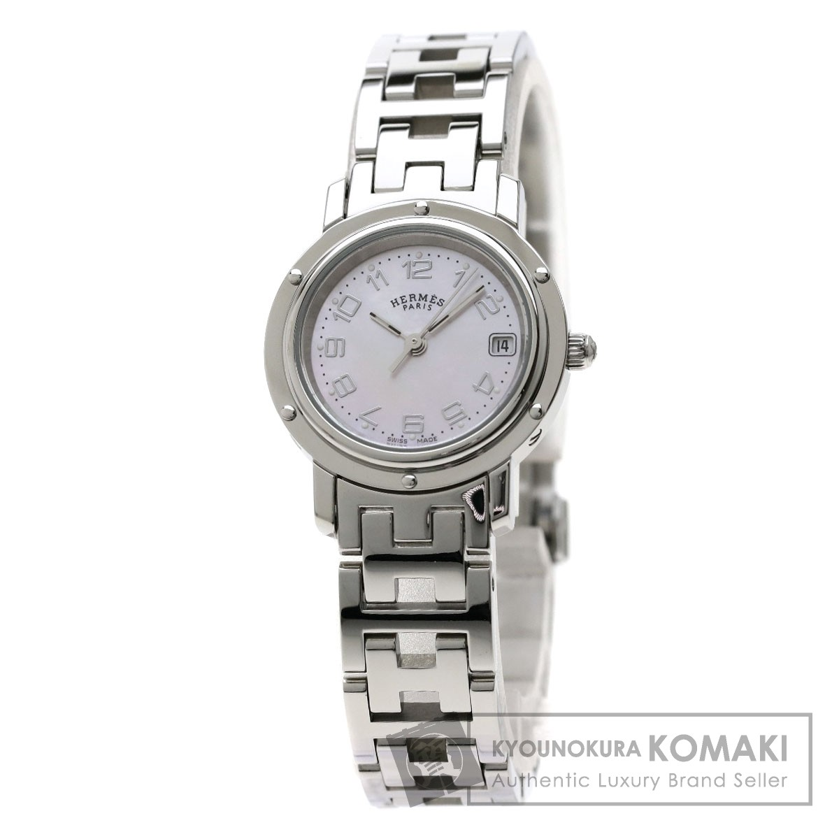 HERMES CL4.210 クリッパーナクレ 腕時計 ステンレススチール/SS レディース 【中古】【エルメス】