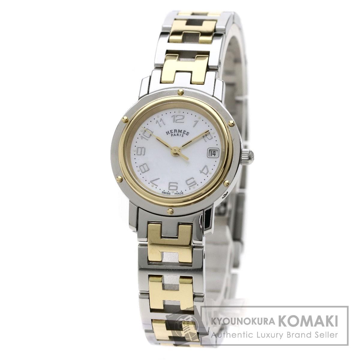 HERMES CL4.220 クリッパーナクレ 腕時計 ステンレススチール/SSxGP レディース 【中古】【エルメス】