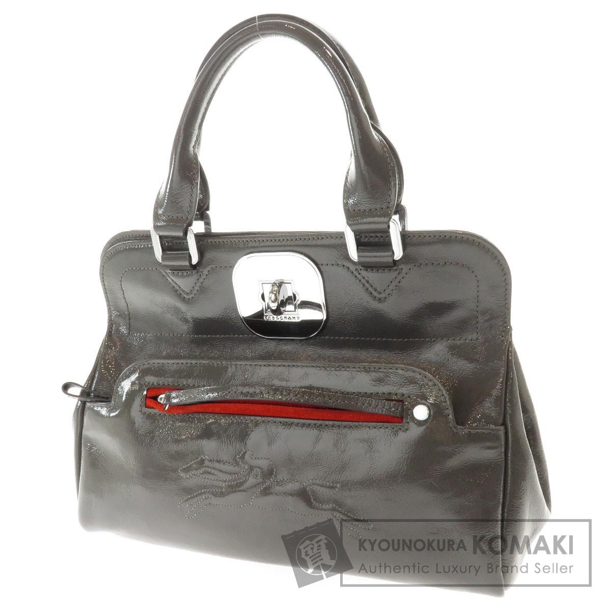 Longchamp 2WAY ハンドバッグ パテントレザー レディース 【中古】【ロンシャン】