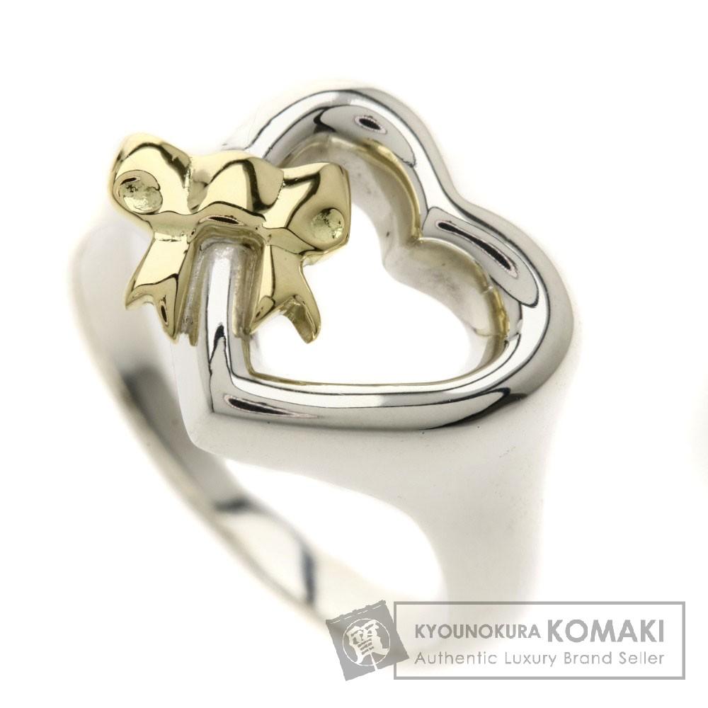 TIFFANY&Co. ハート/リボン リング・指輪 シルバー925/K18YG レディース 【中古】【ティファニー】