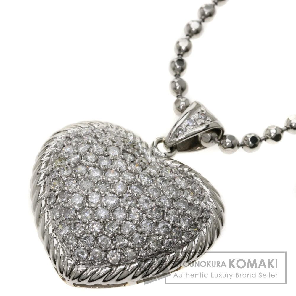 3ct ダイヤモンド/ハートモチーフ ネックレス プラチナPT900/PT850 33g レディース 【中古】