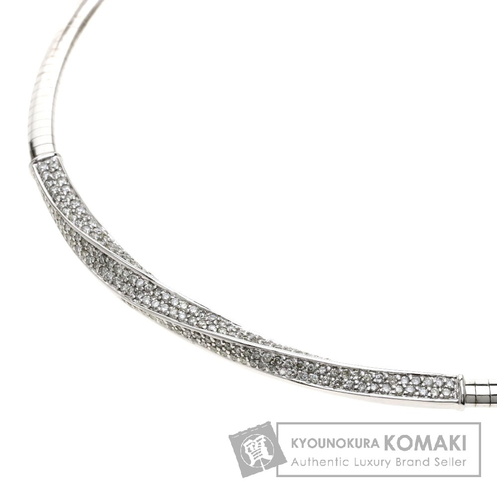 1.9ct ダイヤモンド/オメガ ネックレス K18ホワイトゴールド 34.3g レディース 【中古】