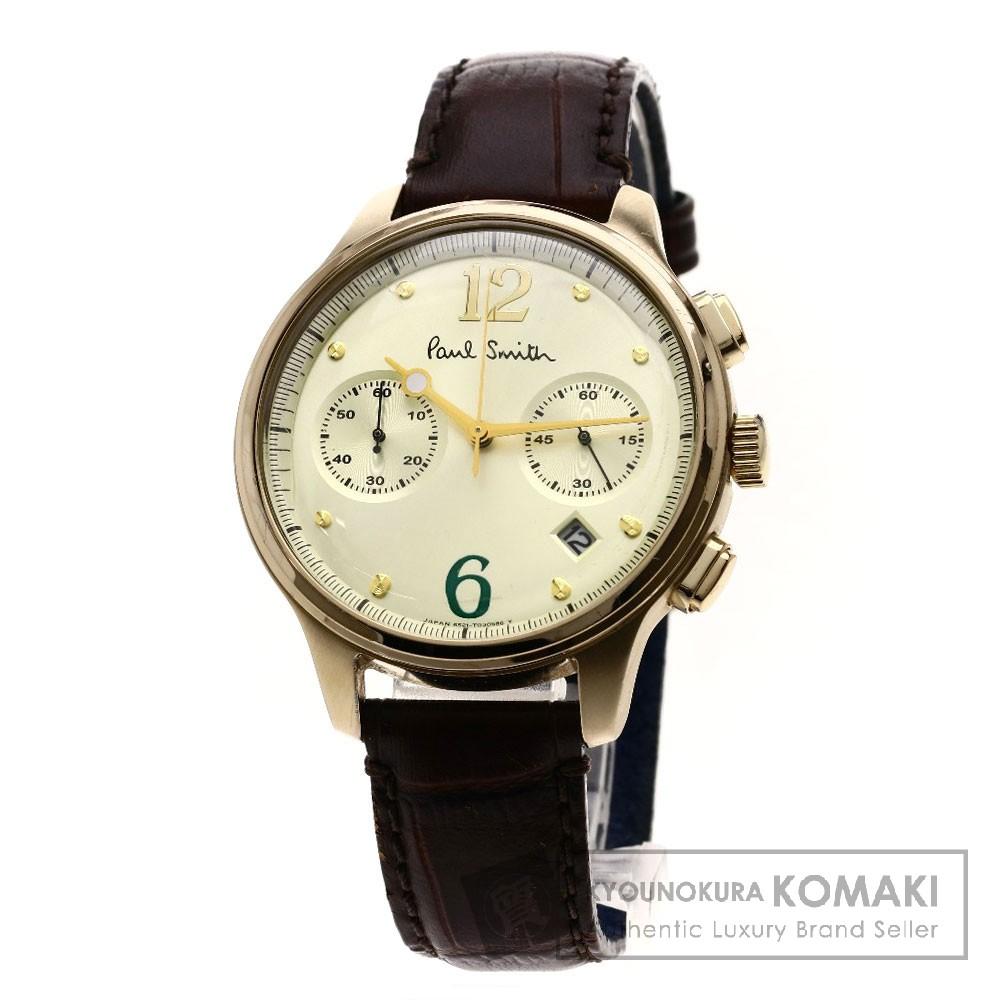 Paul Smith クロノグラフ 腕時計 GP/革 メンズ 【中古】【ポール・スミス】
