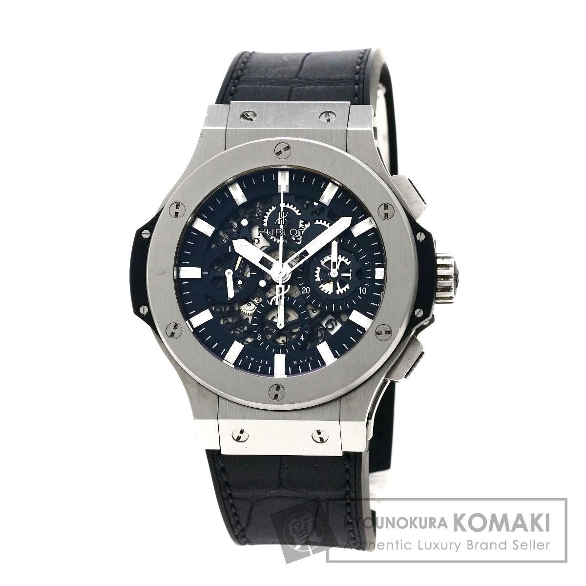 HUBLOT 311.SX.1170.GR ビッグバン アエロバン 腕時計 ステンレススチール/ラバー メンズ 【中古】【ウブロ】