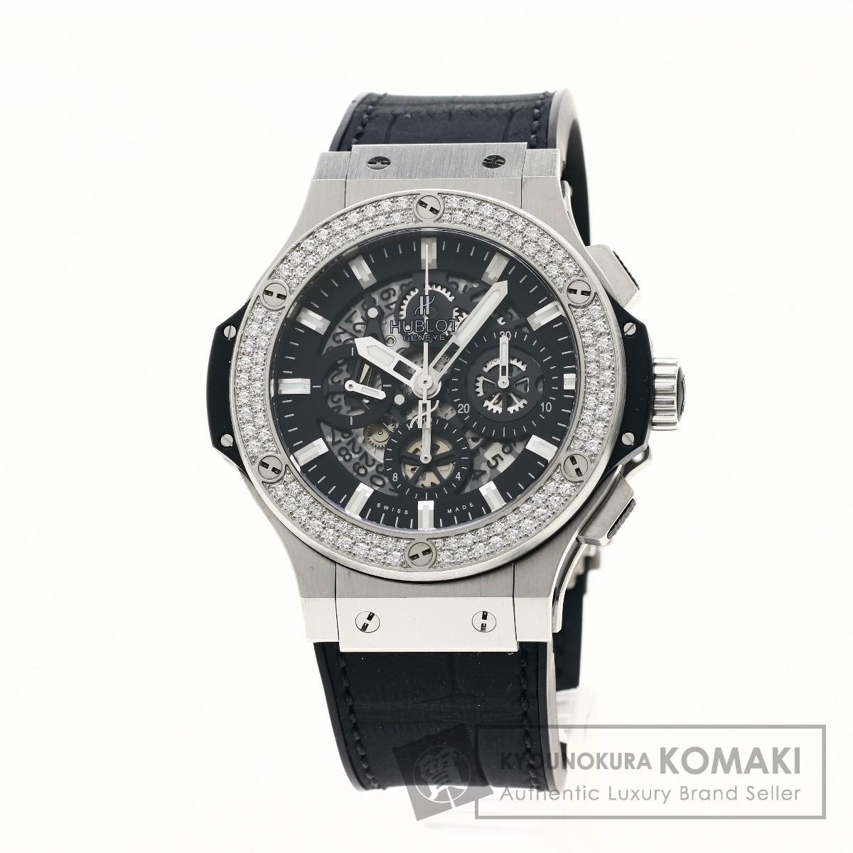 HUBLOT 311.SX.1170.GR.1104 ビッグバン アエロバン ダイヤモンド 腕時計 ステンレススチール/ラバー メンズ 【中古】【ウブロ】