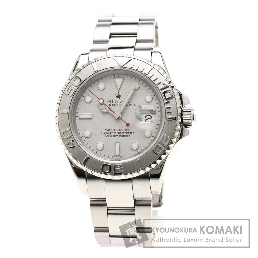 ROLEX 16622 ヨットマスター 腕時計 ステンレススチール/プラチナ メンズ 【中古】【ロレックス】