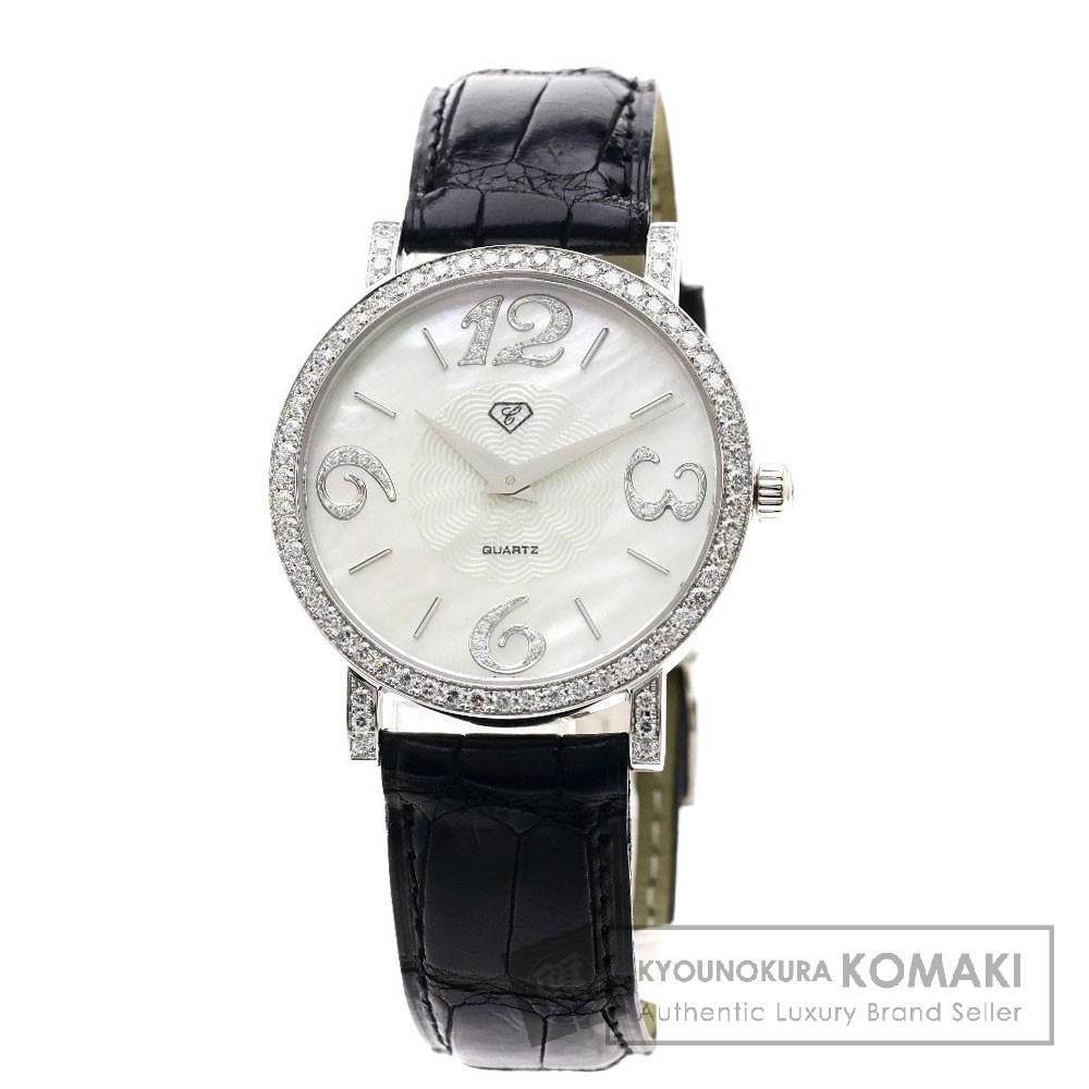 CARATI ダイヤモンド 腕時計 K18ホワイトゴールド/クロコダイル メンズ 【中古】【カラチ】