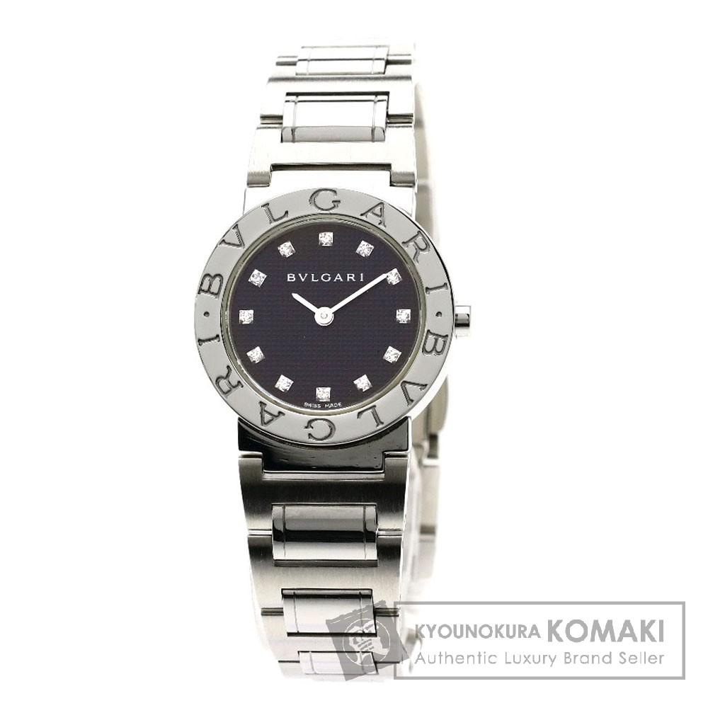 BVLGARI BB26BSS/12N ブルガリブルガリ 12Pダイヤモンド 腕時計 ステンレススチール/SS レディース 【中古】【ブルガリ】