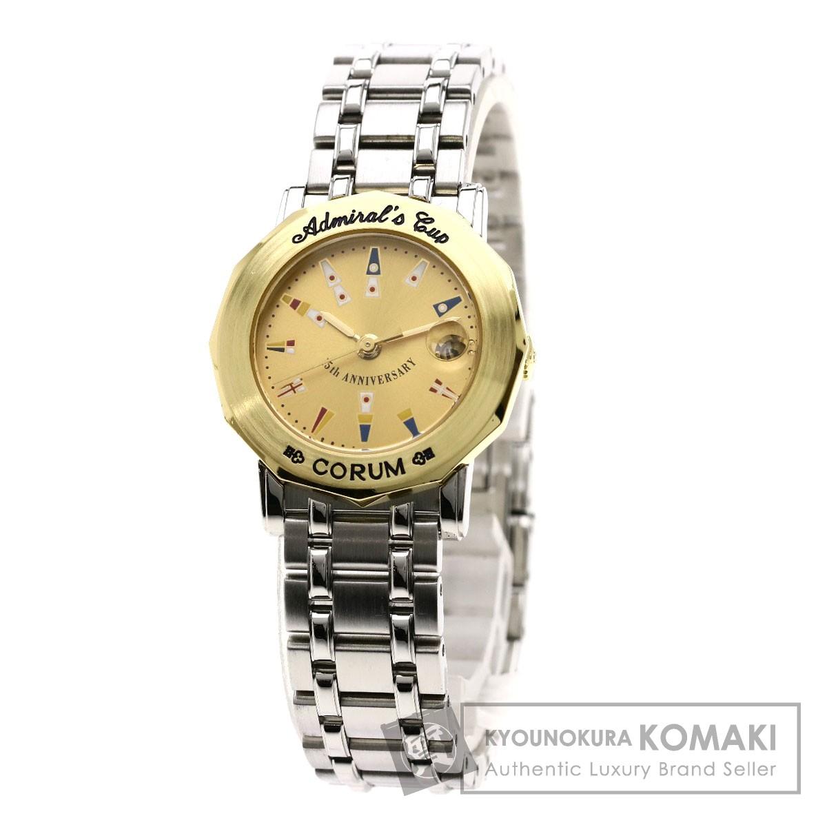 CORUM 99.431.21 V585 アドミラルズカップ 15周年記念モデル 腕時計 ステンレススチール レディース 【中古】【コルム】