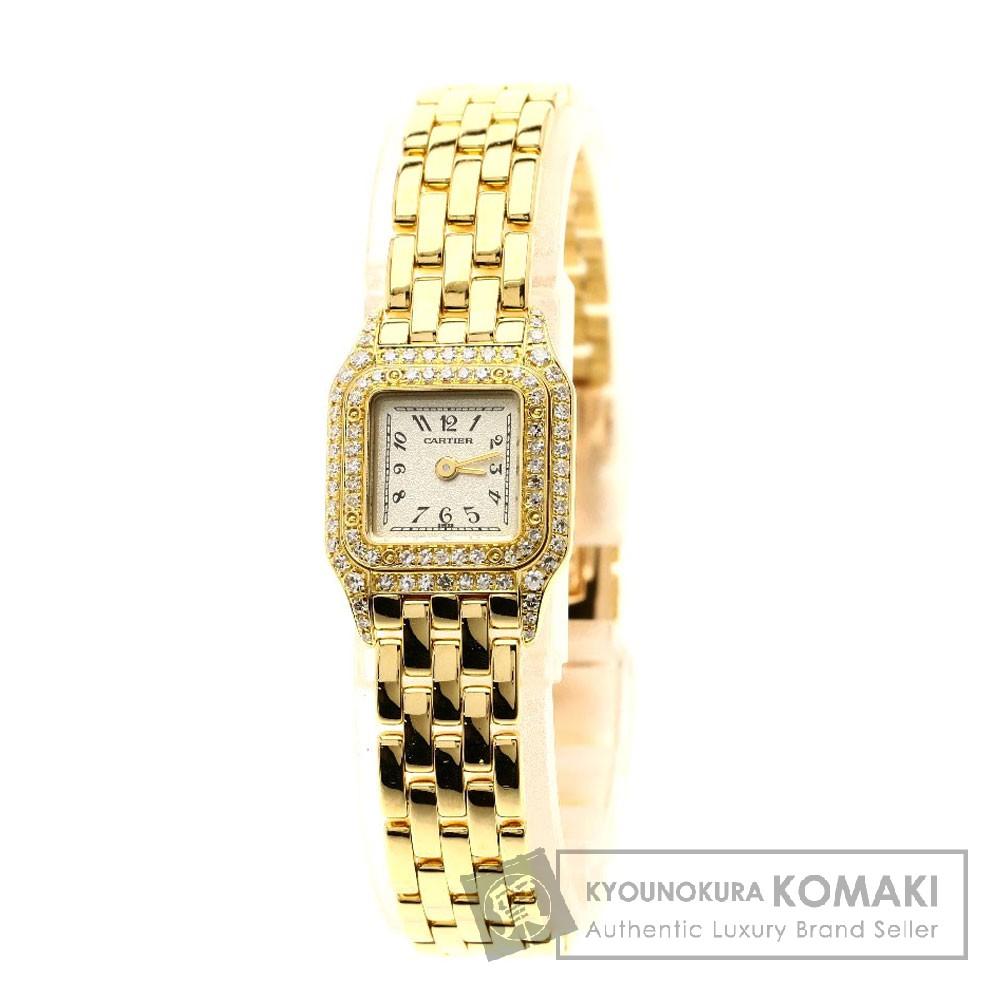CARTIER ミニパンテール 腕時計 OH済 K18イエローゴールド/ダイヤモンド レディース 【中古】【カルティエ】
