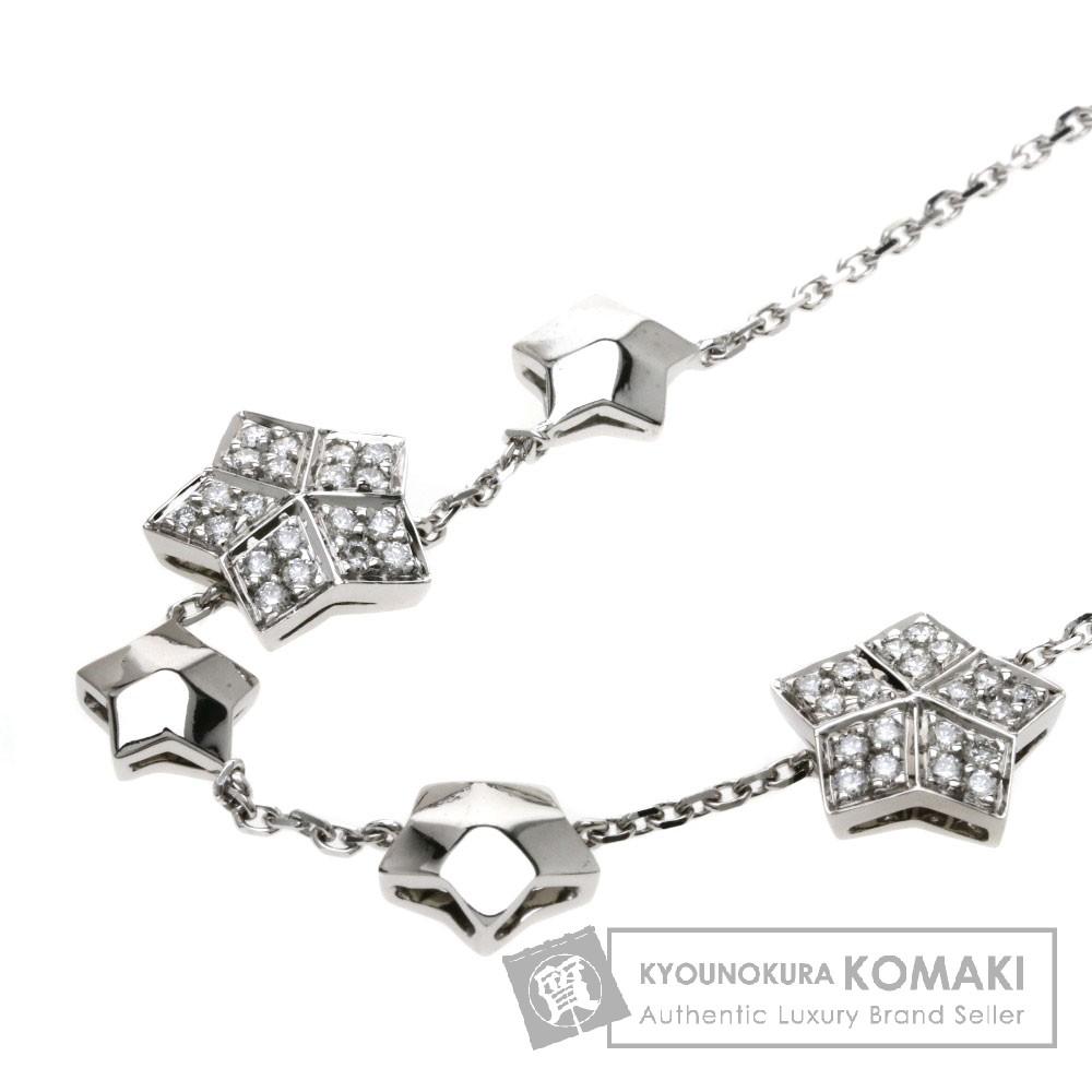 FRED スター ダイヤモンド ネックレス K18ホワイトゴールド レディース 【中古】【フレッド】