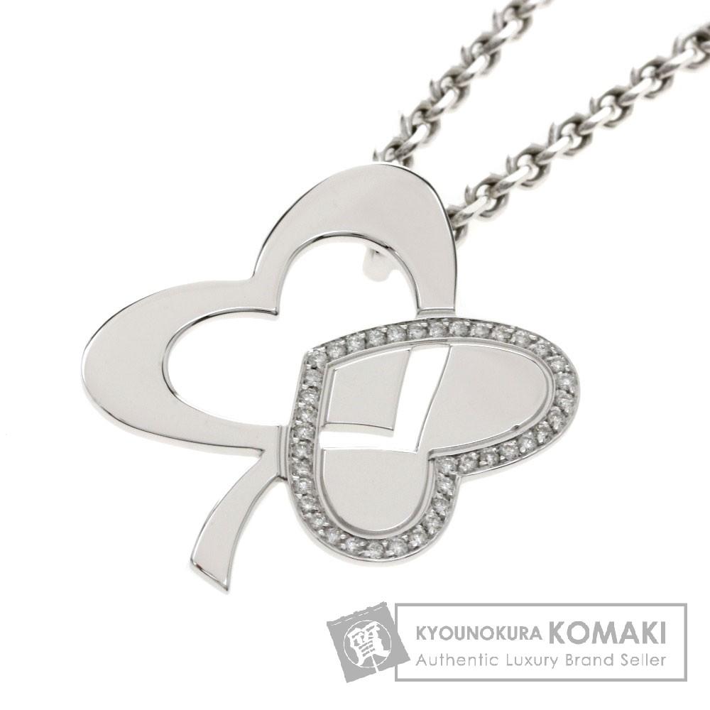 FRED ダイヤモンド クローバー ネックレス K18ホワイトゴールド レディース 【中古】【フレッド】