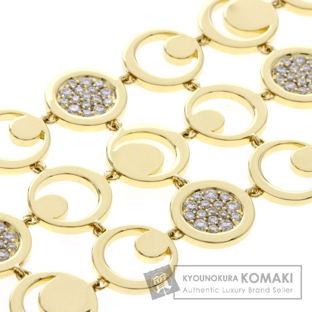 FRED ダイヤモンド 3連 ブレスレット K18イエローゴールド レディース 【中古】【フレッド】