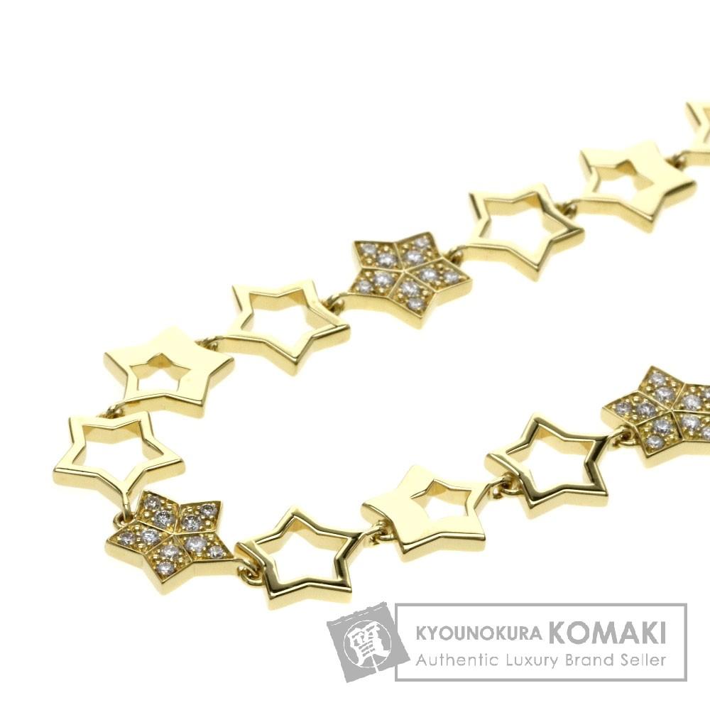FRED スター ダイヤモンド ネックレス K18イエローゴールド レディース 【中古】【フレッド】