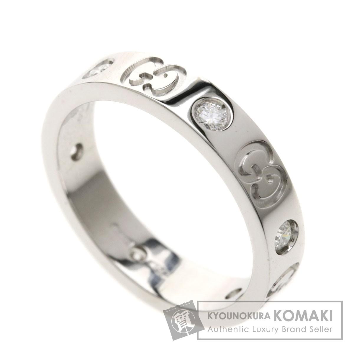 GUCCI アイコン 6Pダイヤモンド リング・指輪 K18ホワイトゴールド レディース 【中古】【グッチ】