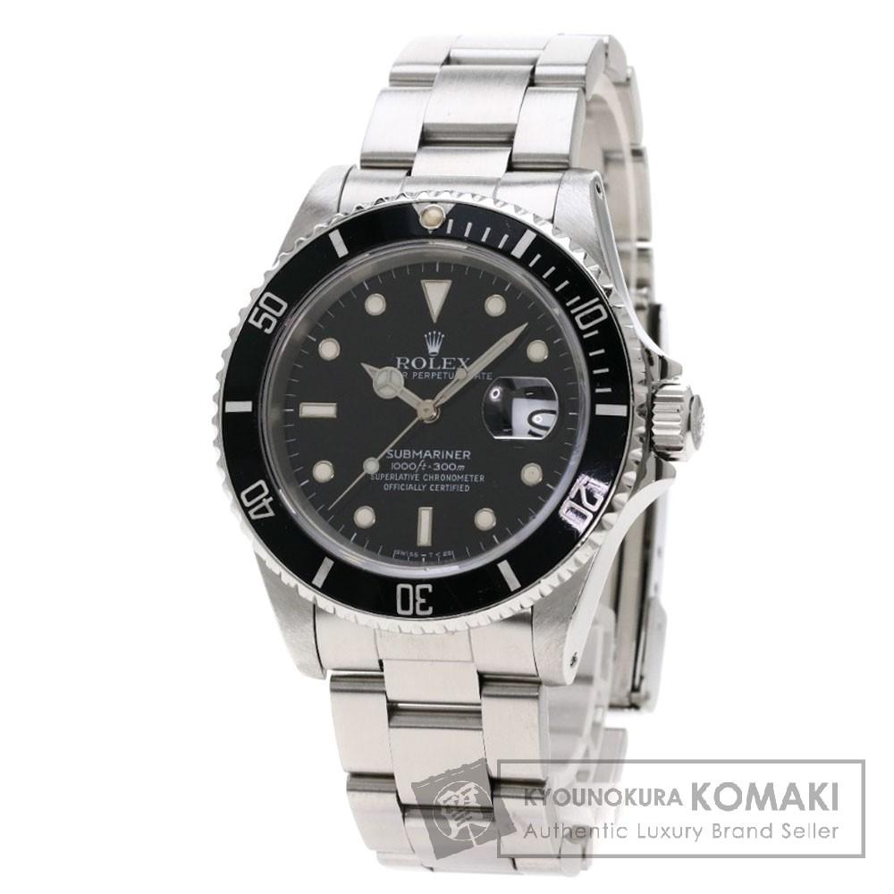 ROLEX 16610 サブマリーナ 腕時計 OH済 ステンレススチール/SS メンズ 【中古】【ロレックス】