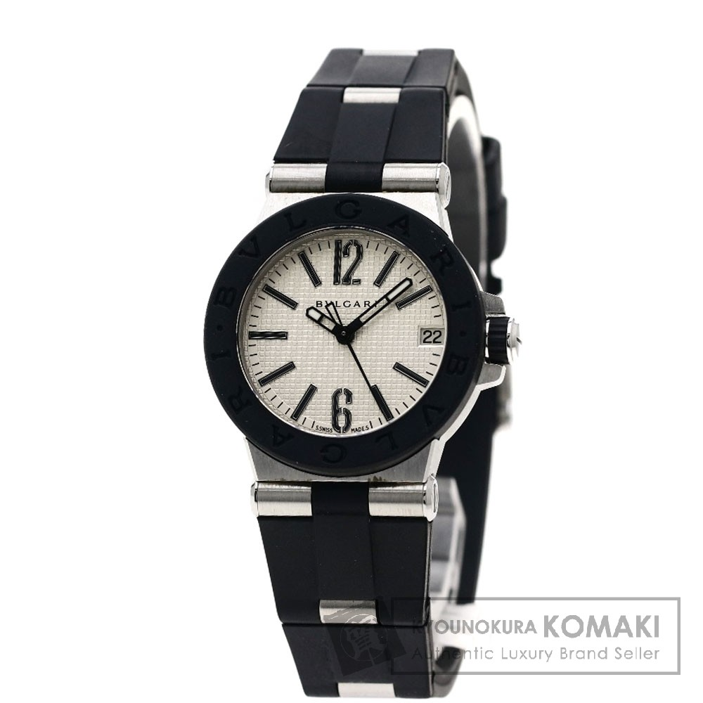 BVLGARI DG29C6SVD ディアゴノ 腕時計 ステンレススチール/ラバー レディース 【中古】【ブルガリ】