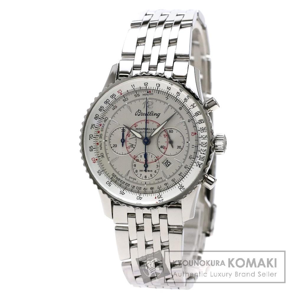 BREITLING A41330(A414G96NP) モンブリラン 腕時計 OH済 ステンレススチール/SS メンズ 【中古】【ブライトリング】
